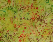 Quilting Material Indonesia Batik Cotton by Anthology Fabrics Apple Green AF6127 HALF YARD (45 cm)