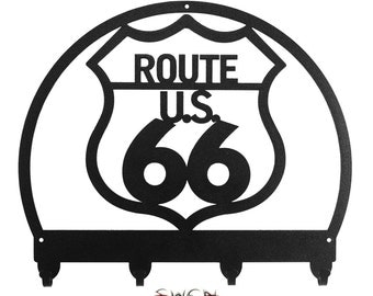 Route 66 Black Metal Key Chain Holder Hanger