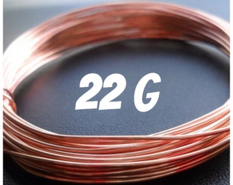 Copper Wire 22g Round DS 5-100ft