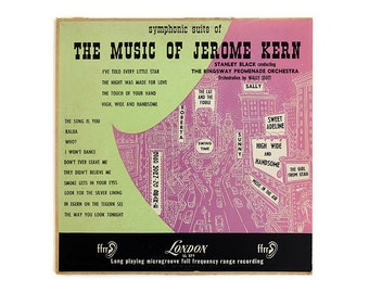 "Alex Steinweiss (attr.) record album design, 1954. ""Symphonic Suite of the Music of Jerome Kern"" LP"