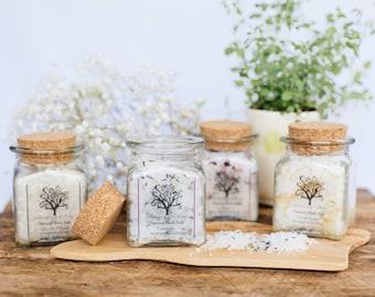 Natural Bath Salt - Lavender, Lemongrass, Rose or Into the Woods - 8 oz