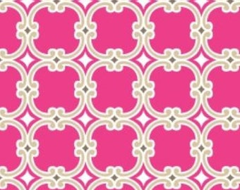 Camelot Fabric's Bright Now, Medallions (Pink) 1 yard