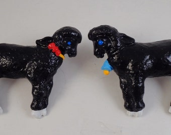Vintage Black Sheep Drawer Pulls Childrens