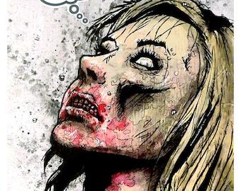 Love Zombie - 8x10 Art Print