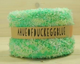 100 Yards of Green/White Mini-Bunting Yarn