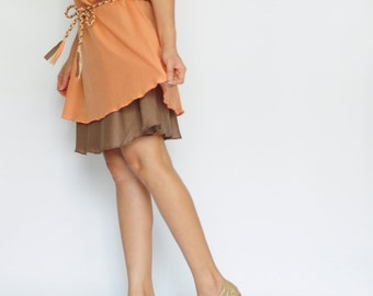 Think...Orange Tone Cotton dress