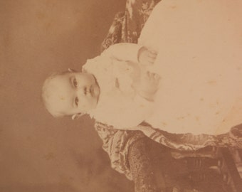 Chubby Cheeks Baby Antique Cabinet Card