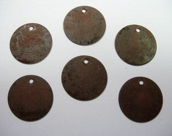 Brown Patina Drops Discs Earring Findings 6 - 15mm