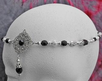 Silver elven circlet, wedding silver circlet, bridal silver crown, renaissance circlet wedding tiara wiccan circlet bohemian halo head piece