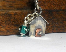 The Original Sterling Silver Beach Hut with Chain  Ready to Ship