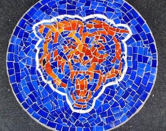 Custom designed football team mosaic garden stepping stone