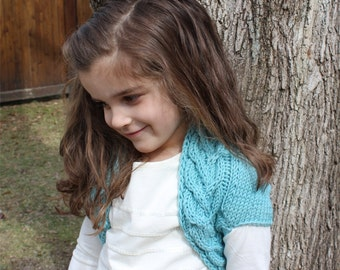 KNITTING PATTERN- child Shrug PDF knitting pattern