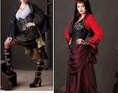 Sz 14 thru 22 - Simplicity Costume Pattern 1819 - Misses' Steampunk Bolero Jacket, Skirt, Top & Bustier