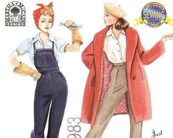 Simplicity 9579 Couturier Doll Clothes for 15 1/2 Inch Dolls - Rosie the Riveter/Just Whistle