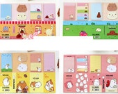 Post it folder message notes with cute hamsters pigs rabbits - many shapes included