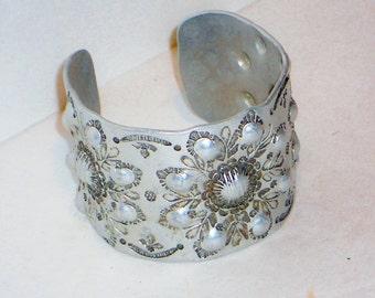 SALE Vintage Silver Cuff Bracelet, Jewelry