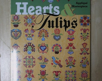 Applique Quilt Book Hearts and Tulips by Margaret Docherty