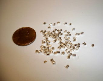 Beadsmith Crimp tubes, High Quality, thick walled. Silver plated 100pk, your choice of size.