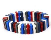 Small flat LONDON bracelet made with LEGO® bricks