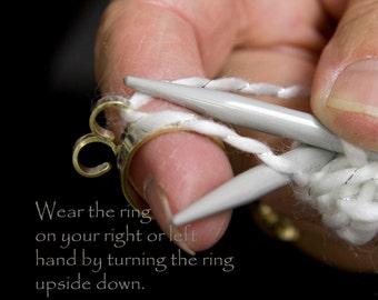 The oiginal knitting ring, Knit2, knitting ring, 2 loop ring, yarn, 2 loop crochet ring, double yarn guide rings, knitting, crochet ring