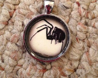 Spider Image Pendant Necklace-FREE SHIPPING-