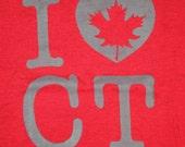 Women's I <3 CT & Maple T-shirt