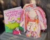 Waldorf Doll Princess Katrina an Alternative Princess...14 Inches All Natural Hand spun Hand dyed Wool Art Yarn Hair