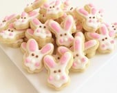 READY TO SHIP Easter Bunny Cookies Minis Style 2 (1/2 pound)