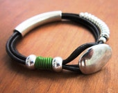 green bracelet, etsy handmade jewelry, womens bracelets, unique bracelet, silver bracelet, beads Bracelet, fashion jewelry, everyday jewelry