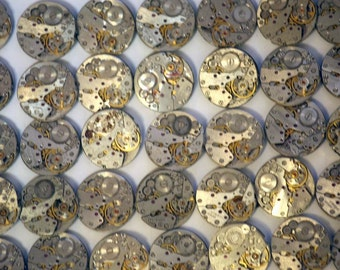 Watch Parts Lot - Set of 43 Watch Mechanism Movements - from Womens Ladies Mechanical Watches - from Russia / Soviet Union / USSR