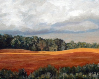 Stormy Field - original oil painting