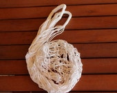 White Market Bag -Handmade Bag -  Shopping Bag - String Bag -  Classic Market Bag