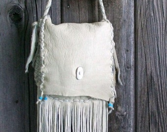 Leather handbag with fringe ,  Fringed leather crossbody bag , Leather purse with fringe