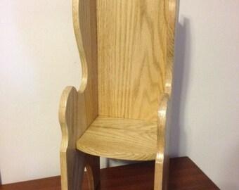 Oak Doll Chair ( Fits American Girl Doll or 18 inch Dolls)