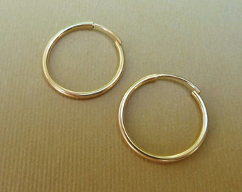 Gold Filled Hoops, Interchangeable Hoops, For Interchangeable Earrings Charms, Use With Interchangeable Earrings, 1 pair