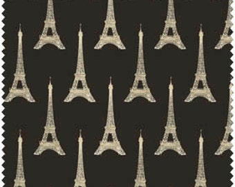 I Dream of Paris by Windham Fabrics - Pela Studio by Wild Apple Eiffel Tower on Black Quilt Fabric
