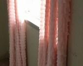 """2"""" Ruffle Curtain Panels Pair - Lots of Colors"""
