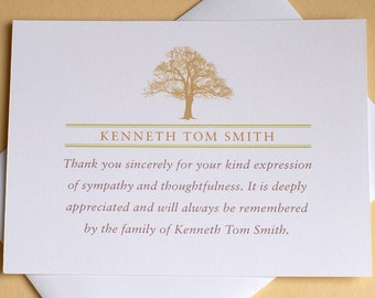 Funeral Thank You Cards with 2 Burgundy or 2 Purple Tulips