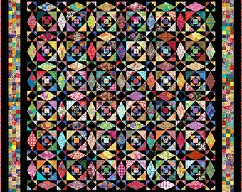 """INTRINSIC - 122""""x 122"""" Large King or 105""""x 105"""" King - Quilt-Addicts Pre-cut Quilt Kit"""