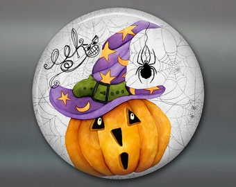 halloween decor, halloween fridge magnet, pumpkin decor magnet, kitchen decor, fall magnet  MA-1373