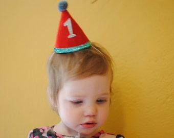 Mini Custom Birthday Party Hat Made from Soft Wool Felt