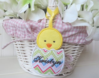 Personalized Baby Chick Easter Basket Tag