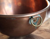 Antique Copper Mixing Bowl ~ Signed England ~ Vintage Home Decor and Kitchen Ware