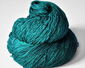 Diving into the Caribbean sea - Tussah Silk Fingering Yarn