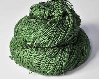 St. Patrick's day parade gone awry - Tussah Silk Fingering Yarn