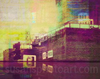 Bits and Pieces, Lowry Hill, Minneapolis art, Walker Art Center, digital art,Photo Montage, digital art photo, wall art, home decor, urban