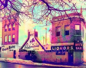 Nyes Bar,  Minneapolis, fine art photo, home decor, Minnesota art, office art, city art, large wall art