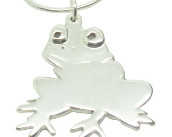 Frog Sterling Silver Necklace