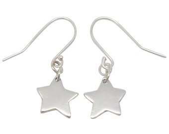 Sterling Silver Small Star Earrings, star earrings, silver star earrings, star earrings, silver stars, silver star earrings, silver earrings