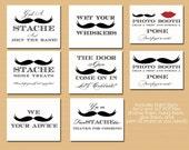 Printable Mustache Signs Bundle -  Mustache Baby Shower Signs, Mustache Wedding Signs, Little Man Birthday- Instant Download